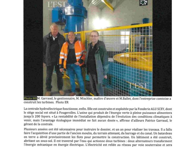 Emagny Centrale Hydroelectrique Emagny Terrassement