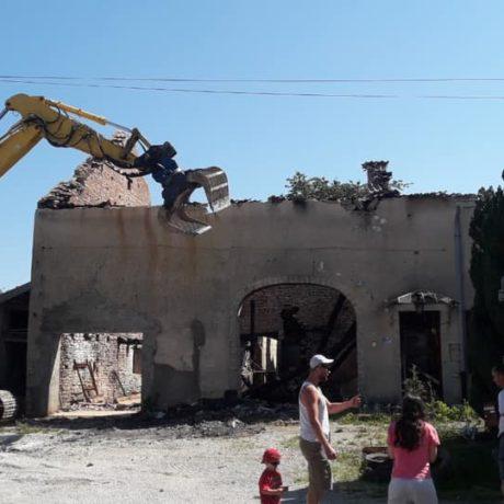 TP Faucogney chantier Démolition suite à incendie département 70