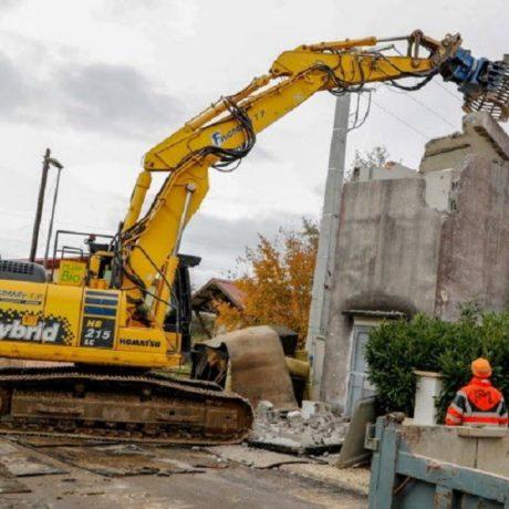TP FAUCOGNEY Démolition Campagne de démolition de postes pour ENEDIS dans le Territoire de Belfort