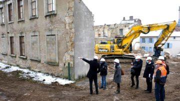 En Vidéo : déconstruction d'une partie de l'ancienne école des Annonciades