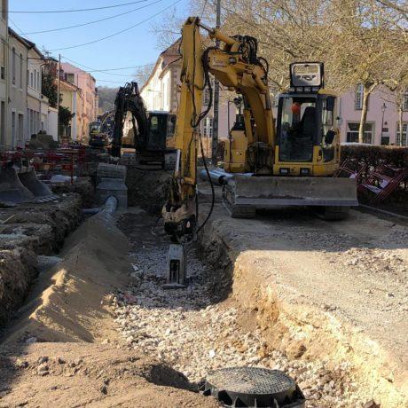 Chantier d'assainissement en cours à Bourbonne les Bains - 3