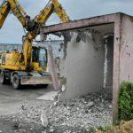 Démolition garage en béton armé