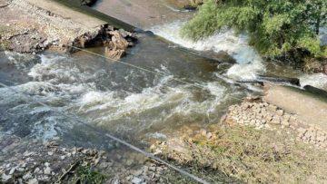 Réparation en urgence du barrage a Conflandey
