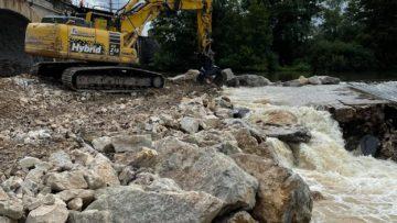 Suite de notre chantier sur le barrage de Conflandey
