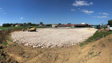 Plateforme pour un futur bâtiment agricole avec Charles